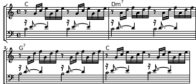 PDF output of a Prelude in the style of Bach
